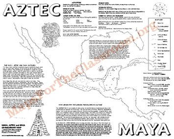 aztec map worksheet aztec inca webquest images frompo