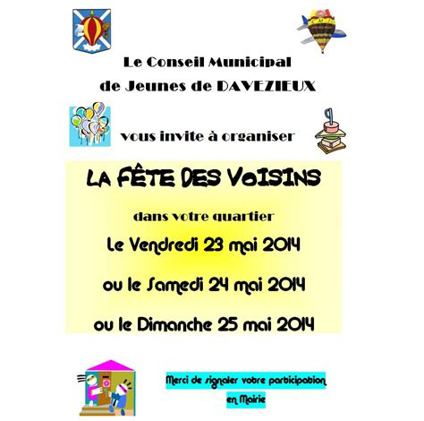 modele invitation fete des voisins 2014 document