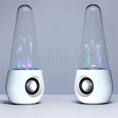 a pair usb led light water show speakers for