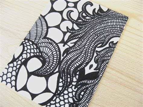 abstract drawing ideas original aceo atc ink abstract drawing black white
