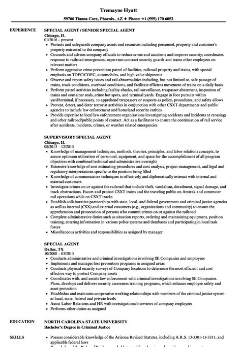 contemporary fbi special resume sle model