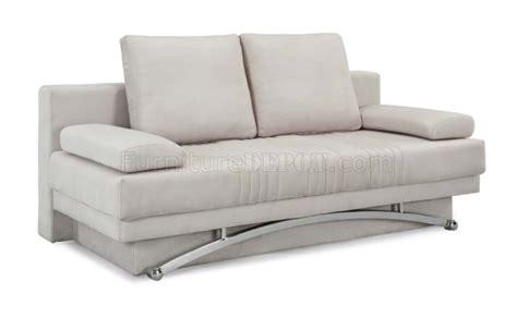 ivory microfiber sofa ivory microfiber modern sofa bed w wood base metal legs