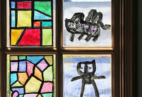 How To Make A Paper Stained Glass Window - design for faux stained glass babble dabble do