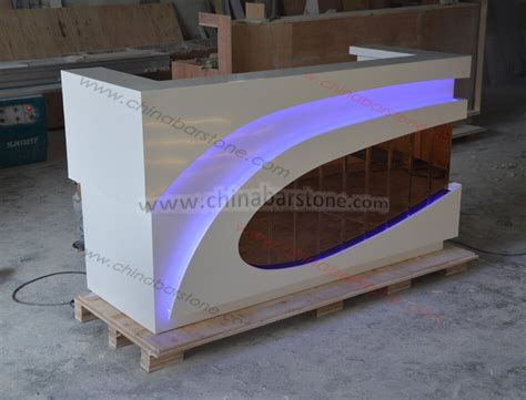half reception desk acrylic solid surface half reception desk for spa