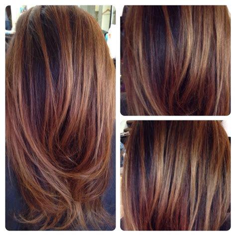 hi lo light hair colors balayage on dark hair love doing carmel chestnut hi