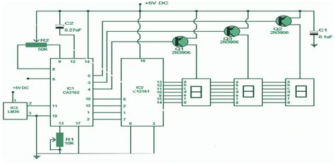 digital electronic circuits electronic thermometer circuit expert circuits