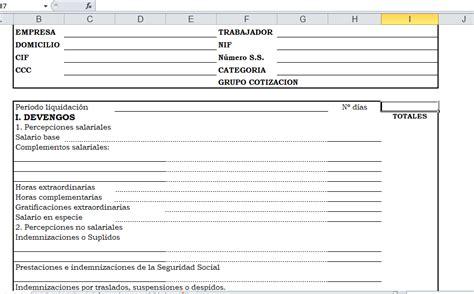 plantilla de nomina para rellenar recibo de n 243 mina en excel y pdf descargalo gratis
