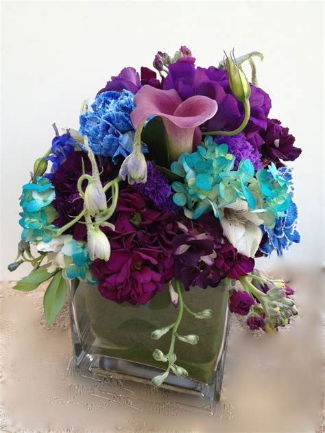 purple and teal wedding centerpieces wedding centerpiece purple blue and teal blue wedding