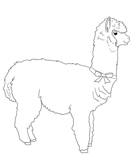 Got 7 Coloring Pages Coloring Pages Alpaca Coloring Pages