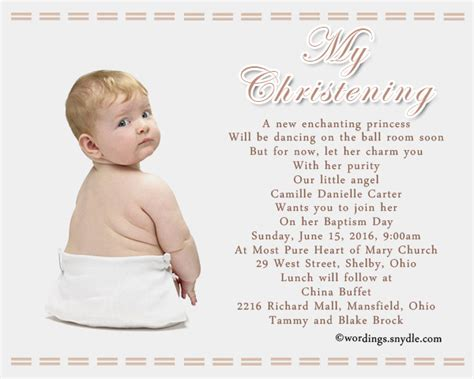 wording for invitation baptism invitation wording sles wordings and messages