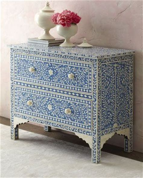 White Dresser With Blue Drawers by Quot Hilliard Quot Two Drawer Chest At Horchow Furniture