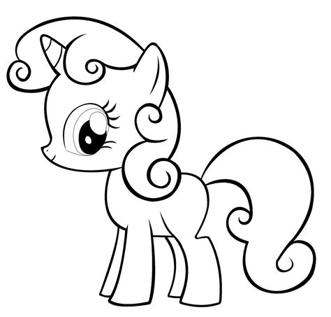 Easy Pony Coloring Pages | free printable my little pony coloring pages for kids