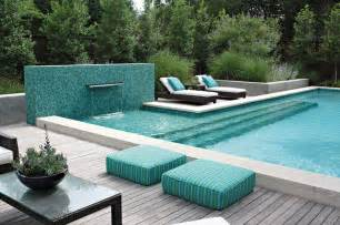 contemporary pools pool with mosaic wall and fountain contemporary pool