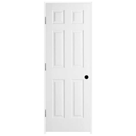 26 Interior Door Home Depot Jeld Wen 26 In X 80 In Woodgrain 6 Panel Primed Molded Composite Single Prehung Interior Door