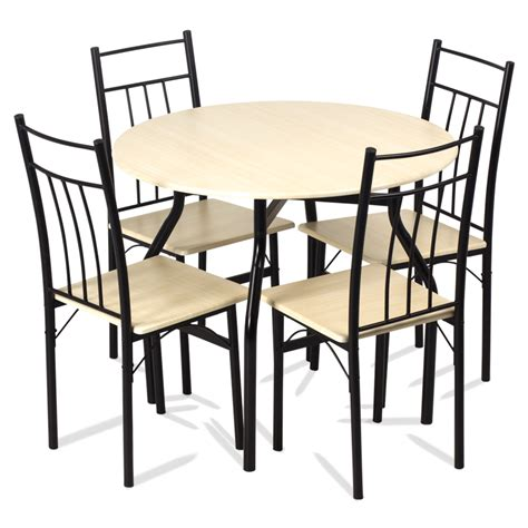 And Table by Dining Set Table With 4 Chairs 20010 Maple Price