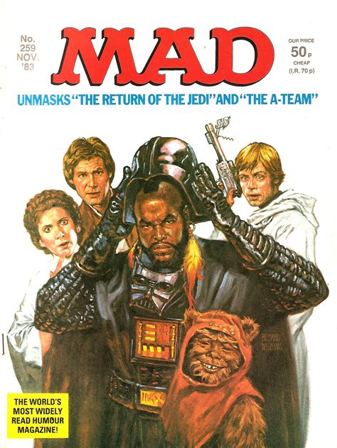 mad magazine mad magazine 1983 return of the jedi brand new retro