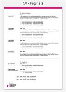 Curriculum Vitae Template Student by Cv Template 208 Mooicv Cv Maken