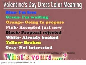 valentines colors s day dress color meaning