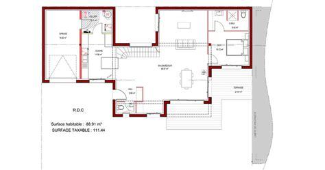 Pente Toiture Terrasse 4593 plan maison trecobat