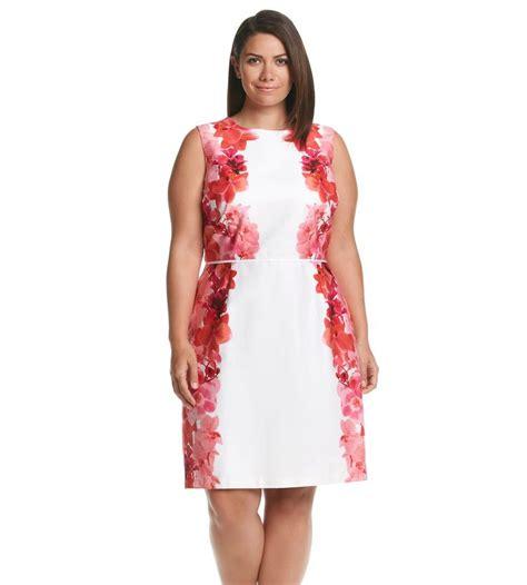 Dress Ton calvin klein plus size orchid border dress meyer