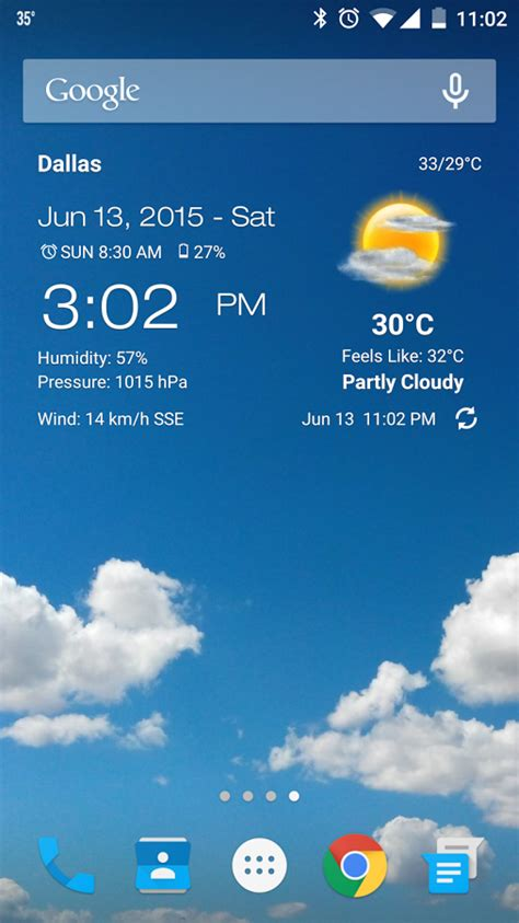 weather for android weather clock widget for android android apps on play