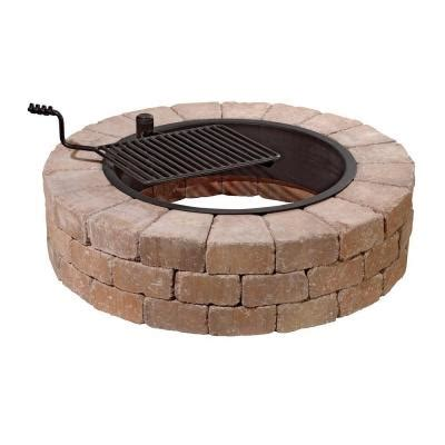 pit ring with grill necessories grand pit 48 in concrete pit in desert with cooking grate 3500007 the