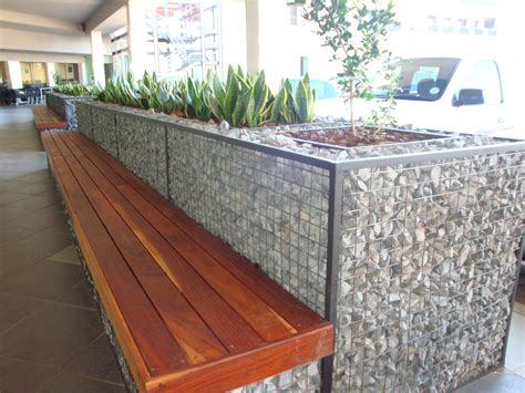 bench planter cubedec gabion planter and bench combo badec bros