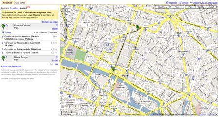itin 233 raire pour les pi 233 tons sur maps webmarketing