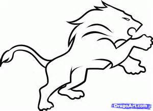 How to draw the detriot lions step by step sports pop culture free