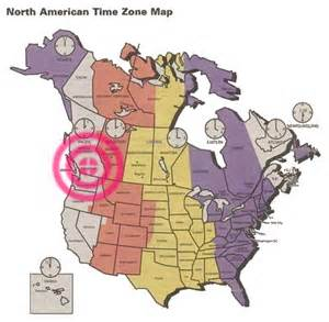 North american time zone map showing location of kaslo british