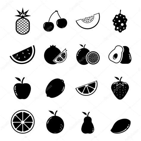 imagenes de verduras a blanco y negro fruit icon stock vector 169 tzubasaz 23766875