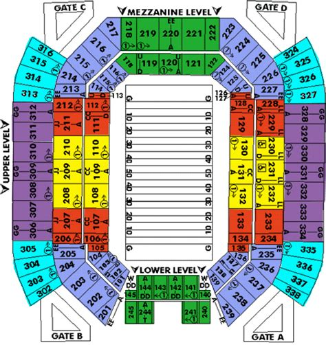 bowl seating chart with rows citrus bowl seating chart with rows florida citrus bowl