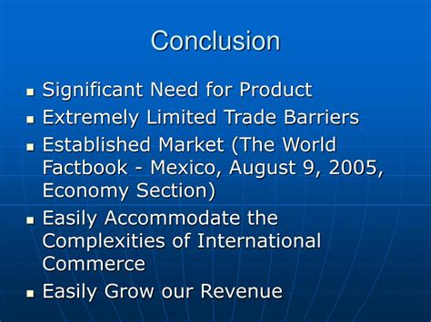 conclusion section ppt mexico agricultural equipment powerpoint