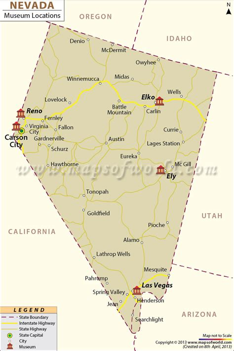 nevada in the map of usa list of museums in nevada nevada museum map