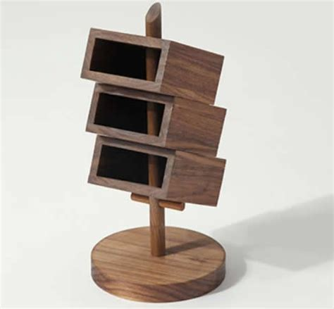3 tier desk organizer 3 tier wooden office desk organizer black walnut feelgift