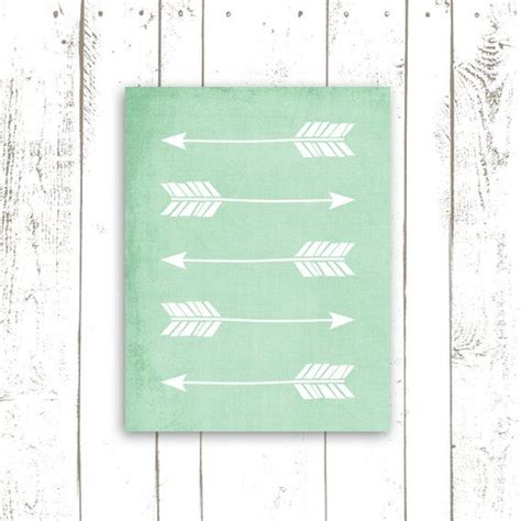 mint green home decor arrow art print home decor in mint green arrow