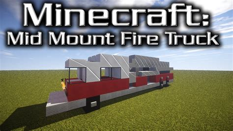 minecraft fire truck minecraft mid mounted fire truck tutorial designed by