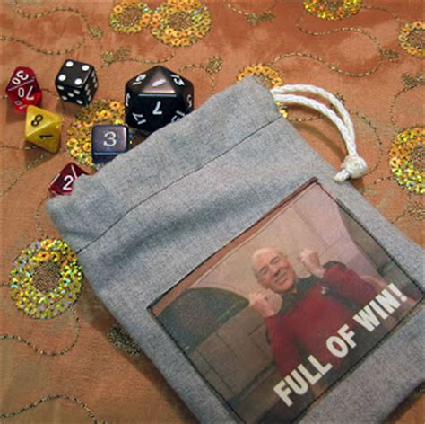dice bag printable pattern knit fish sew geeky how to make a dice bag
