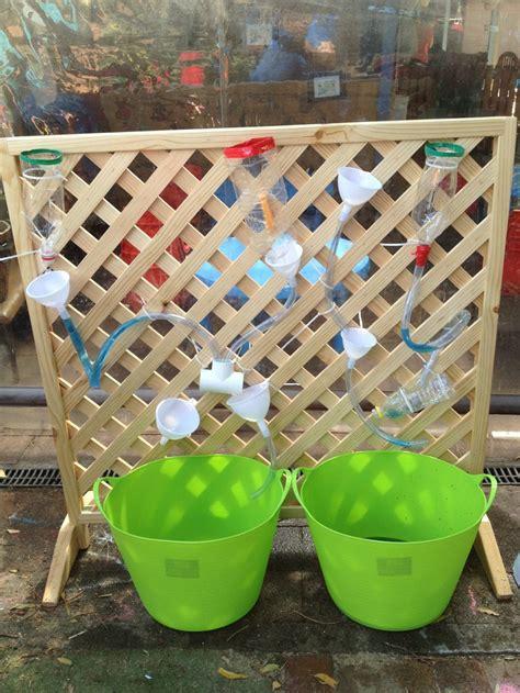 Preschool Garden Ideas Waterwall At Ccps Made By Moi Preschool Garden Early Childhood And Activities
