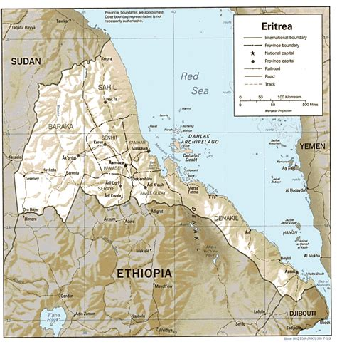 eritrea map nationmaster maps of eritrea 9 in total