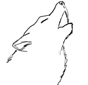 Simple Wolfis M amazing wolf drawing clipart best