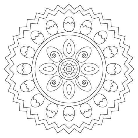 easter eggs mandala coloring pages mandala coloring easter mandala with eggs coloring page free printable