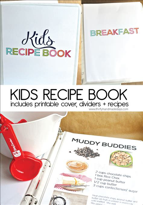 free kids recipe book printables free homeschool deals