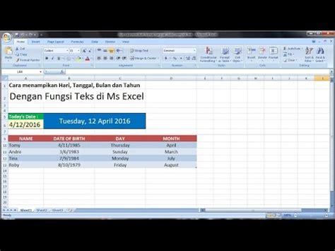tutorial excel cara excel 2007 tutorial tips cara merubah format tanggal