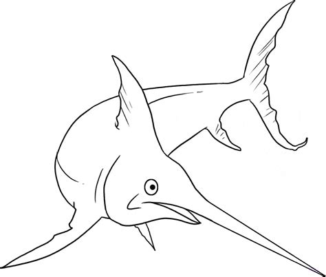 swordfish free colouring pages