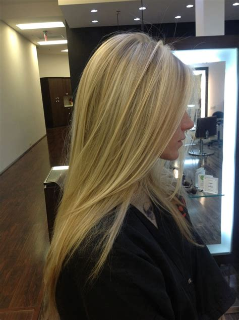 salon that will match your hairstyle in the philippines blonde pattern matching highlights with a long layered cut