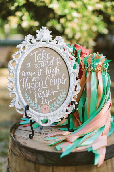 diy wedding stuffs buku misa pemberkatan ribbon wands for a wedding exit we this moncheribridals