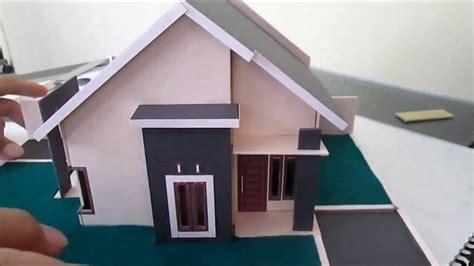 membuat miniatur rumah sederhana type  youtube