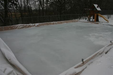 backyard rink ice thickness ice lessons learned from a backyard hockey rink outdoornews
