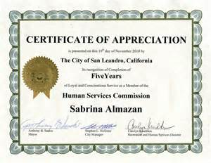 years of service award certificate templates search results for certificate of appreciation years of